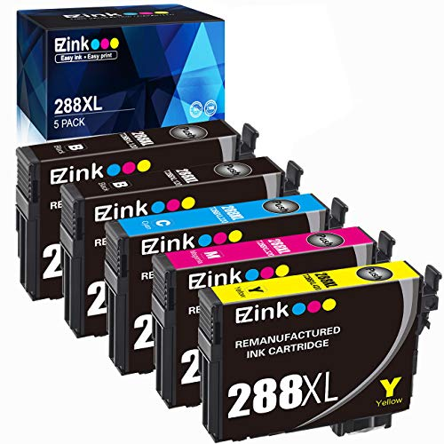 - E-Z Ink (TM) Remanufactured Ink Cartridge Replacement for Epson T288XL 288 XL 288XL High Capacity to use with Expression XP-440 XP-340 XP-330 XP-430 XP-446 XP-434 (5 Pack, Upgraded Version)