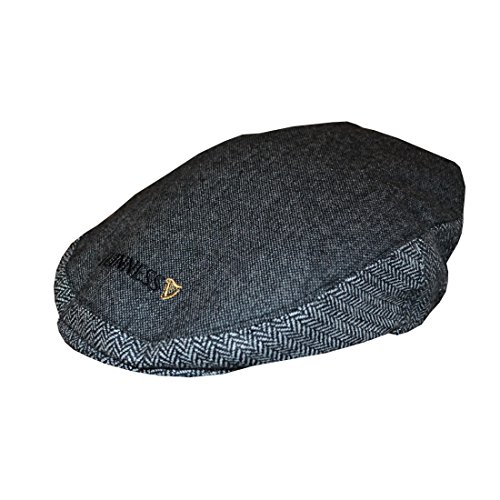 Official Guinness Grey Tweed Flat Cap ,Grey,Large