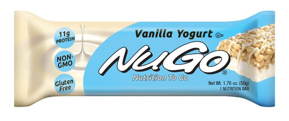 NuGo Protein Bar, Vanilla Yogurt, 1.76-Ounce Bars (Pack of 15)