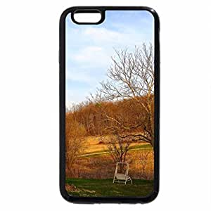iPhone 6S Case, iPhone 6 Case (Black & White) - Lovely Spring Evening on the Farm