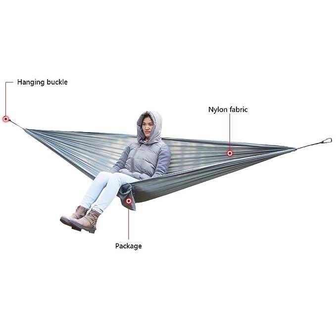 80135d491 Lixada Hamaca para 2 Personas Portátil Durable Compacto de Tela de Nylon  para Cámping Viajar Picnic: Amazon.es: Deportes y aire libre