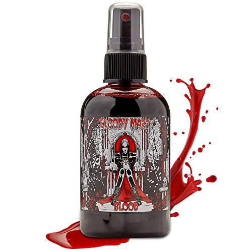 Bloody Mary Fake Blood Makeup Spray - for Theater and Costume or Halloween Zombie, Vampire and Monster Dress Up (Large - 4 oz) ()
