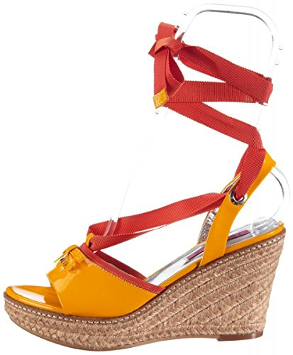 JETTE 63 21 14475 Wedge Plateausandaletten Patent Leather yellow orange Yellow - Yellow Orange Iu1Rt9Bk5