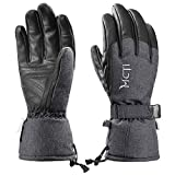 MCTi Ski Gloves Winter Waterproof Snowboard Snow Warm 3M Thinsulate PU Leather Cold
