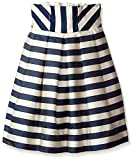 Monnalisa Kid's Stripe Skirt, Ivory Navy, 10