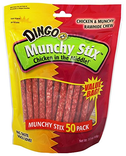 Munchy Chews (Dingo - Chicken In The Middle Rawhide Chew Munchy Stix - 50 Pack)