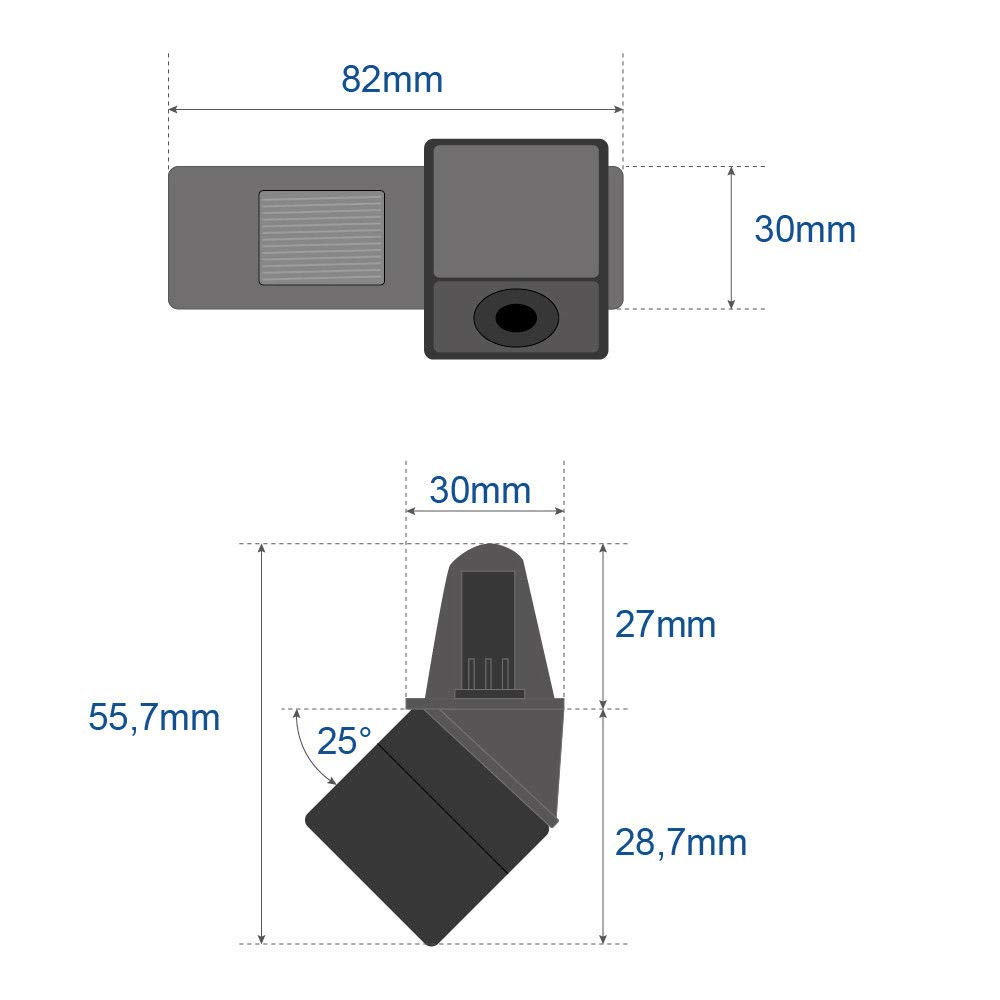 Model A= 100x29 mm Backup Camera Waterproof Rear-View License Plate Rear Reverse Parking Camera for Chevy Loava//Aveo//Lacetti//Captiva//Cruze//Eplca//Estate Spark HRV Aveo Trailblazer Screw Style