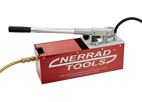 nerrad herramientas nthydptp hidráulico bomba de prueba de presión con Integral auto Válvula de flotador,