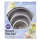 Aluminum Round Cake Pans, 3-Piece Set with 8-Inch, 6-Inch and 4-Inch Cake Pans
