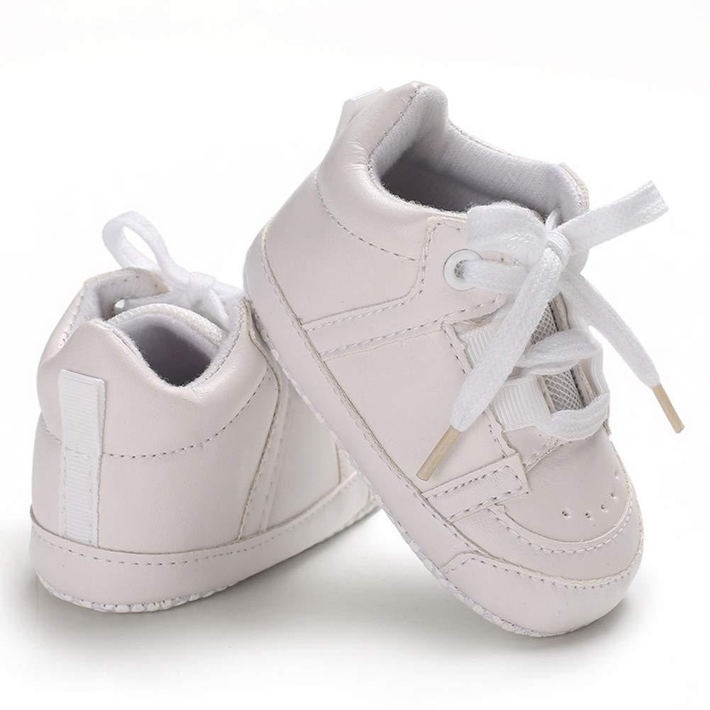 Alamana Fashion Toddler Baby Boys Girl Soft Soles Anti-Slip Sport Prewalker Crib Shoes 2# 11cm