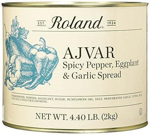 Roland Foods Ajvar Spicy Pepper, Eggplant & Garlic Spread, 4.40 Pound (Roland Garlic)
