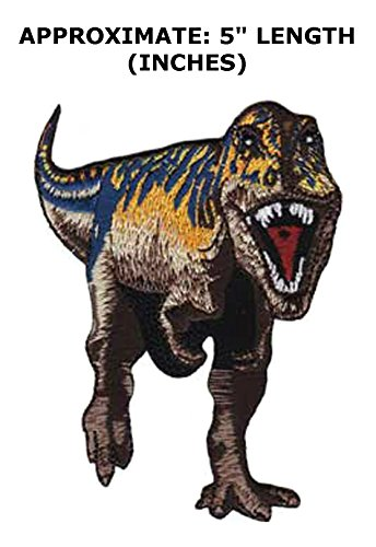 Diy Raptor Costume (Jurassic Park Dinosaur T-Rex Kids Adult Theme DIY Decorative Embroidered Applique Application Patch By Superheroes Brand)