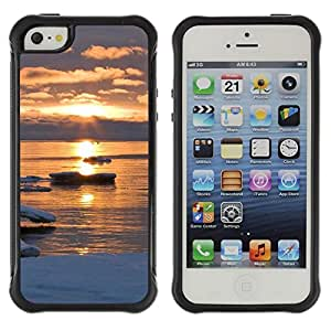"Hypernova Defender Series TPU protection Cas Case Coque pour Apple iPhone SE / iPhone 5 / iPhone 5S [Sunset Beautiful Nature 47""]"