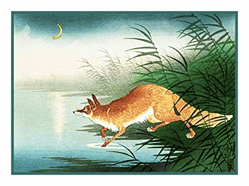 - Orenco Originals Fox in The Reeds Asian Ohara Shoson Counted Cross Stitch Pattern
