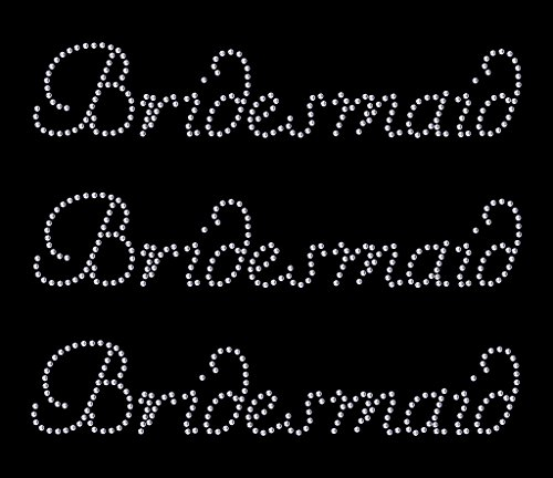 Bridesmaid rhinestone transfer diamante bridal product image