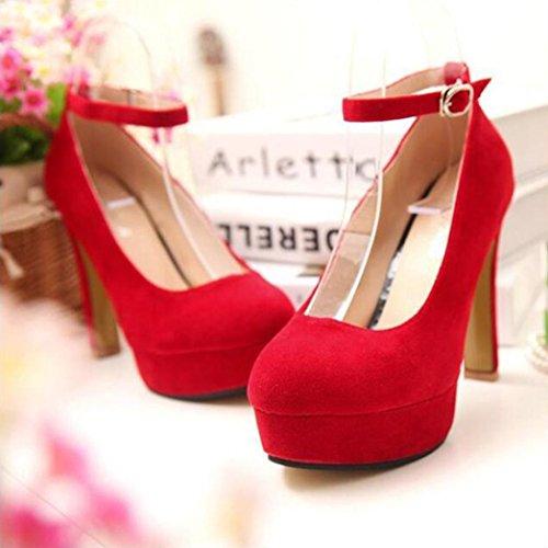 Red MRELT High Shoes Strap Promotion Platform Heels Pumps Wedding Heels Women Ankle Shoes Big xTwB6R4gqR