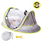 Baby Travel Tent, UV Protection UPF 50+ Instant Beach Tent, Portable Pop-up Newborn Baby Travel Cribs Bed, Fodable Outdoor Baby Playyard Ultra-light Weight