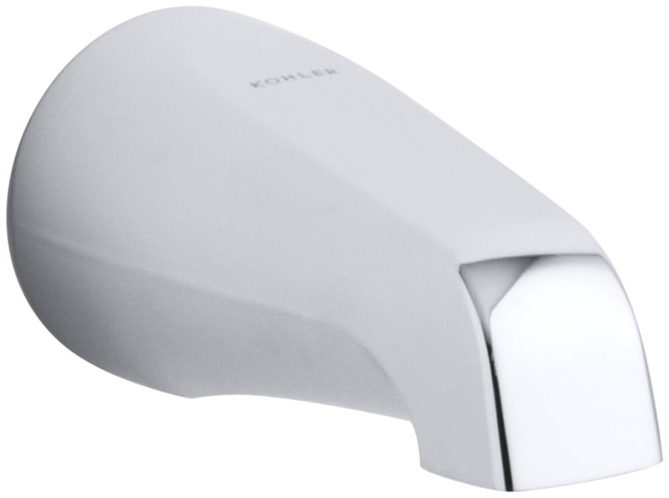 KOHLER K-15135-CP Coralais Non-Diverter Bath Spout, Polished Chrome ...