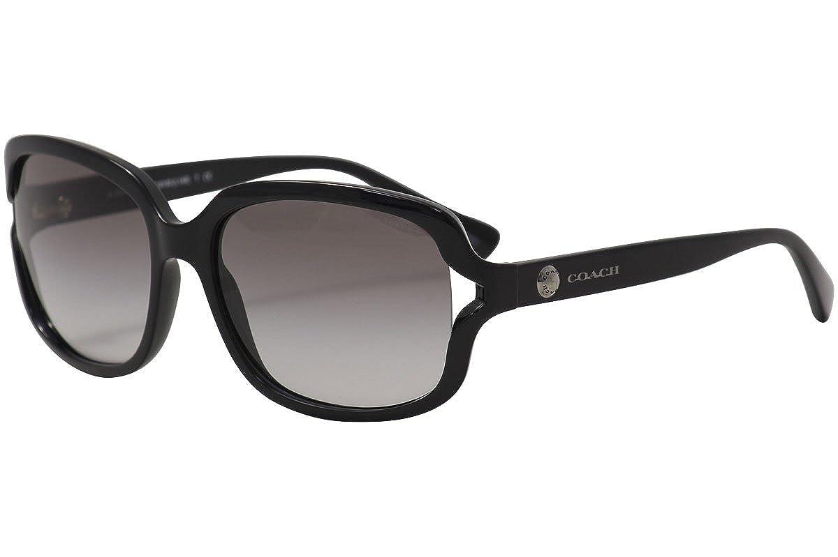 9e4bc59230 Amazon.com  Coach Womens L149 Sunglasses (HC8169) Black Brown Plastic -  Non-Polarized - 57mm  Coach  Clothing