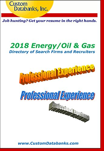 Amazon.com: 2018 Energy/Oil & Gas Directory of Search Firms and ...