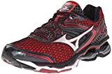 Mizuno Men's Wave Creation 17 Running Shoe, Chinese Red/Black/Red Dahlia, 9.5 D US