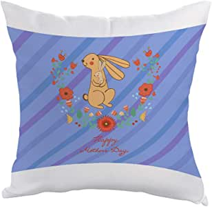 happy mothers day Printed Pillow, Polyester fabric 40X40 cm