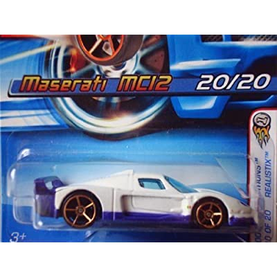 Hot Wheels 2005 First Editions Realistix Maserati MC12 White with FTE Wheels #020: Toys & Games