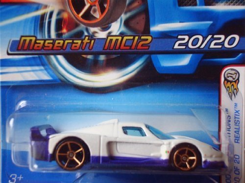 Hot Wheels 2005 First Editions Realistix Maserati MC12 White with FTE Wheels #020 ()