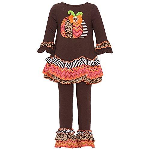 Rare Editions Little Girls Brown Harvest Pumpkin Halloween