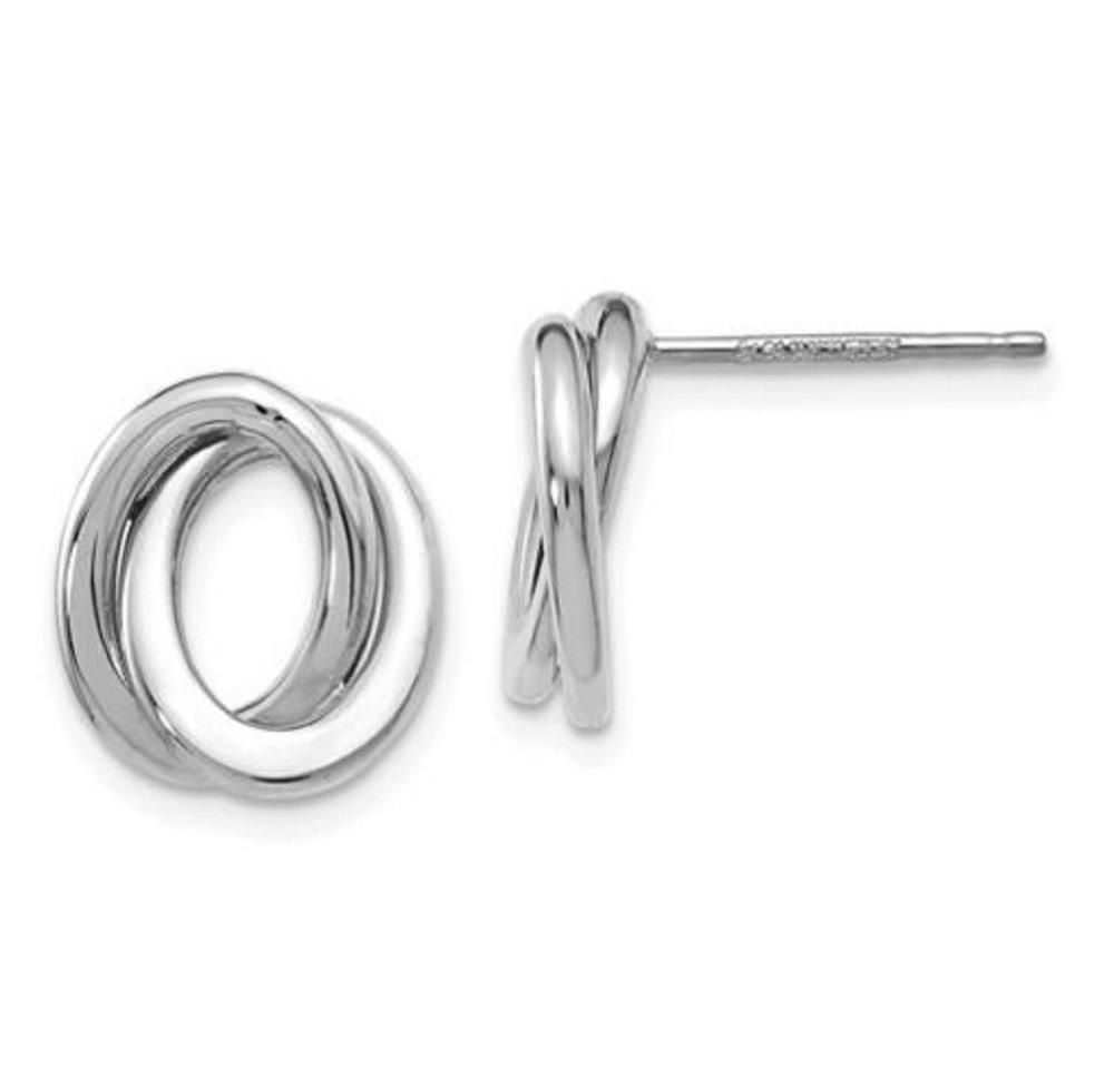 Leslie's 14k White Gold Polished Love Knot Earrings