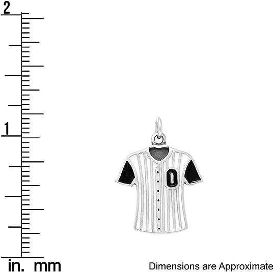 Raposa Elegance Sterling Silver Hockey Sticks Charm approximately 23.5 mm x 19 mm