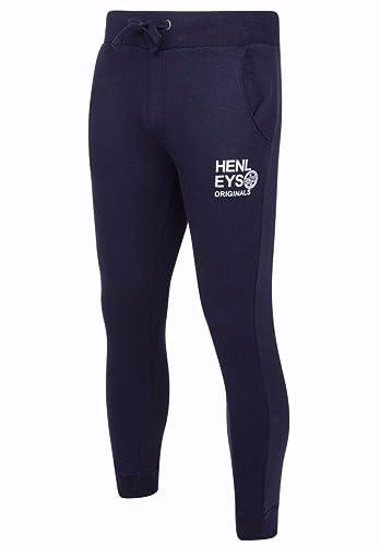 Henleys Diffusion Men/'s Fleece Hoody Blue