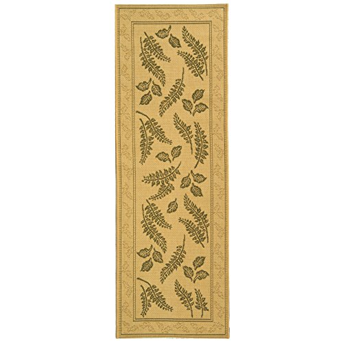 Safavieh Courtyard Collection CY0772-1E01 Natural and Olive Indoor/ Outdoor Runner (2'3
