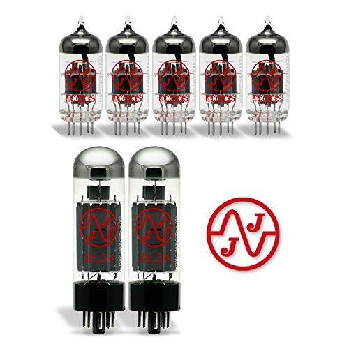 JJ Tube Upgrade Kit For Hughes & Kettner Duotone 50 watt Combo Amps EL34/ECC83S ()