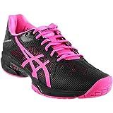 ASICS Womens Gel-Solution Speed 3 Sneaker, Black/Hot Pink/Silver, Size 8