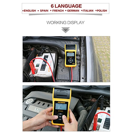 TuLanAuto 12V/24V Autool BT660 Battery Conductance Tester BT-660 Auto Battery Testers Automotive Diagnostic Tools For Heavy Duty Trucks, Light Duty Truck, Cars by TuLanAuto (Image #1)