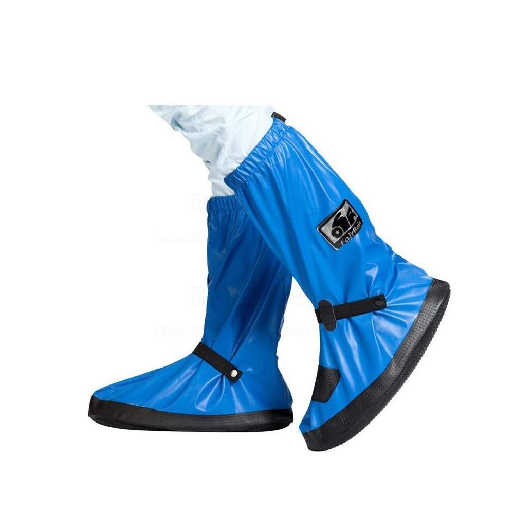 WUZHONGDIAN Shoe Cover, Waterproof and Non-Slip High Shoe Cover, Reusable Shoe Cover, High 39CM (Color : Blue, Size : M(37/38)) by WUZHONGDIAN