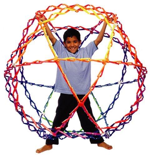 (Hoberman Mega MegaSphere Expands to Four Feet Polyhedral Toy)
