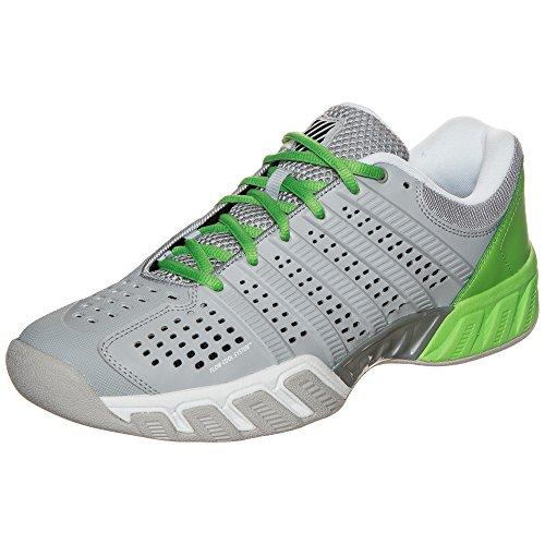 K-Swiss Big Shot Light 2.5Carpet scarpe da tennis da uomo, grigio / verde acceso, 6 UK - 39.5 EU