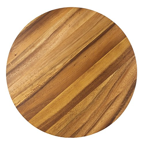 Ironwood Gourmet 28445 Multi-Use Circle Serving Board, Acacia Wood (Wood Cutting Board Circle)