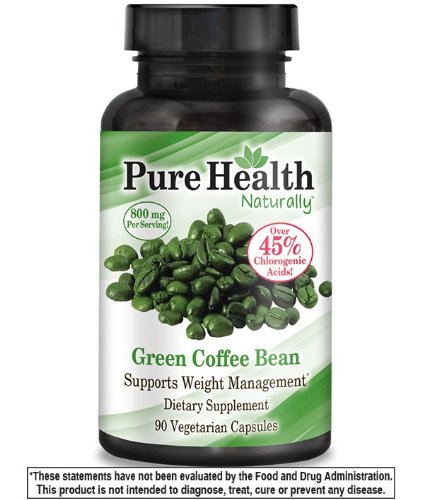 Pure Constitution Green Coffee Bean Extract - 800 mg Capsules - 90 Capsules