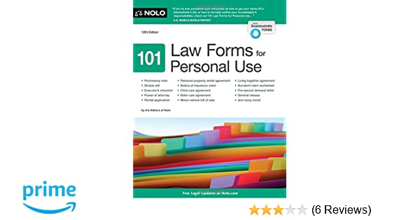 Law Forms For Personal Use Nolo Editors Amazon - Law forms for personal use