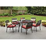 Amazoncom Hampton Bay Belleville Outdoor Decorative 7Piece Patio