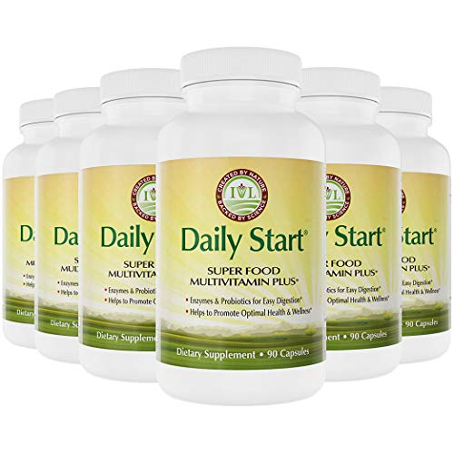 IVL – Daily Start Superfood Multivitamin Plus, 180 Capsules (Pack of 6)