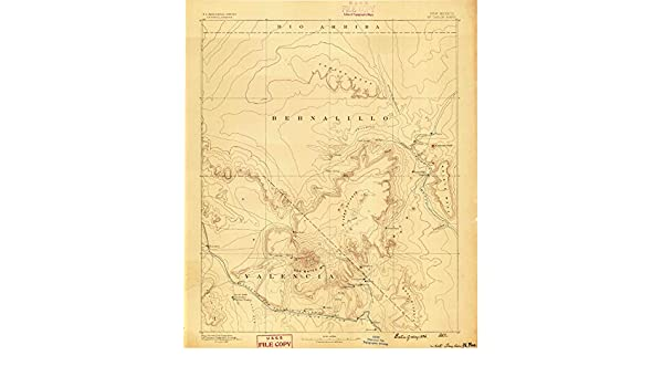 Amazon.com : Mt Taylor NM topo map, 1:250000 scale, 1 X 1 Degree, Historical, 1886, 19.6 x 16.6 IN - Polypropylene : Sports & Outdoors