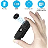 IDV Mini Camera, Hidden Spy Camera with Viewing Screen,Digital Voice Recorder for Lectures, Sports DV,Body Cam, Portable Clip Camera with full HD 1080P, Indoor/Outdoor