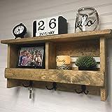 Wall organizer   Entryway shelf   Rustic wooden shelf   Coat rack   Key holder   Entryway decor   Rustic decor