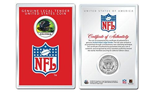 ATLANTA FALCONS NFL Helmet JFK Half Dollar US Coin w/NFL Display Case LICENSED