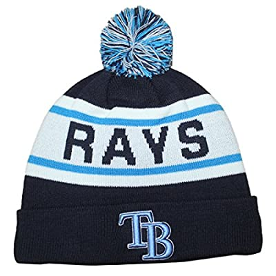 MLB Tampa Bay Rays Adult Winter Hat / Beanie with Removable Pom Pom