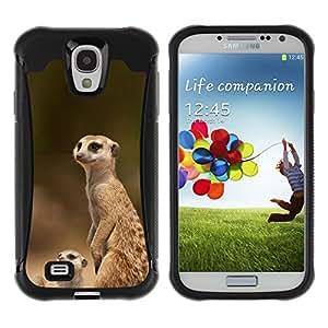 ZETECH CASES / Samsung Galaxy S4 I9500 / THE MEERKAT FAMILY / El Meerkat Familia / Robusto Caso Carcaso Billetera Shell Armor Funda Case Cover Slim Armor